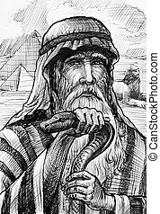 Picture Moses in Egypt - picture of Moses in Egypt with pray...