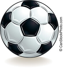 Vector soccer ball. - Vector soccer ball isolated on white...