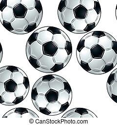 Vector soccer balls pattern.