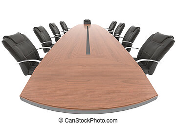 meeting room table and chair from the boss point of view...
