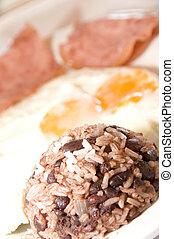 gallo pinto Nicaraguan breakfast - Nicaraguan breakfast with...