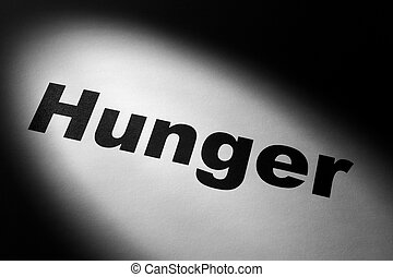 Hunger - light and word of Hunger for background
