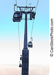Ropeway - Aerial tramway in the mountain Also known as cable...