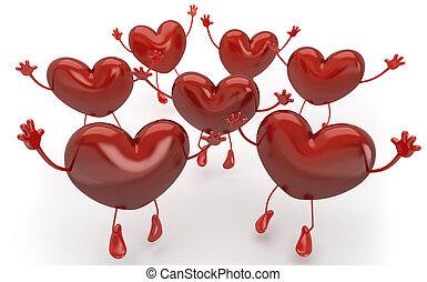 many hearts jumping and callling to be chosen among them,...