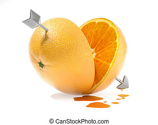 better half or the other half of the orange love concept -...