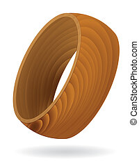 Wood grain textured Ring - Abstract Wood grain textured Ring...