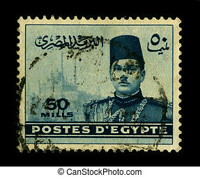 Postage stamp - EGYPT-CIRCA 1950:A stamp printed in EGYPT...