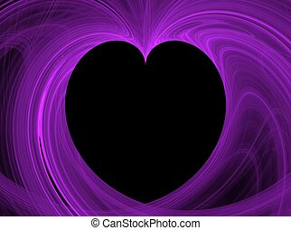 Black Heart Purple Fractal Copy Spa