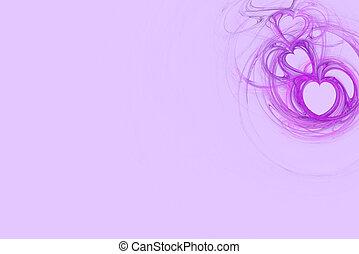 Lavender Heart Design Copy Space