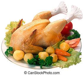 rôti, poulet