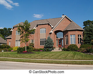 Large Two Story New Brick Home - Large two story new red...