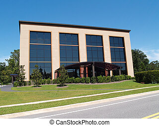 3 Story Office Building With Glass - Three story office...
