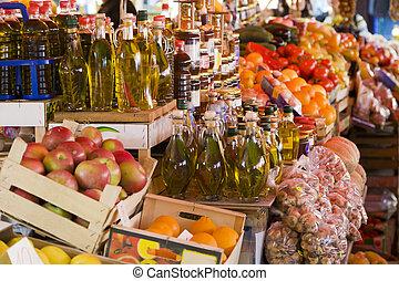 Sunday market - Fresh produce on display at Sunday market in...