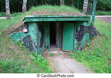 Entrance into bunker - Entrance into underground bunker...