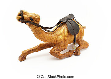 Wooden camel figurine - Wooden camel A souvenir from Tunisia...