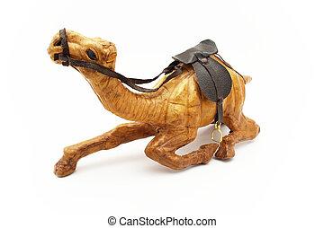 Wooden camel figurine - Wooden camel. A souvenir from...