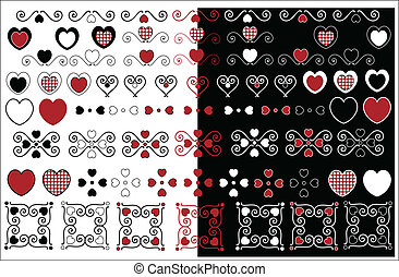 Valentine Designs With Gingham Trim - Red, black and white...