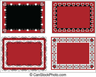 Vector Valentine Frame or Tags