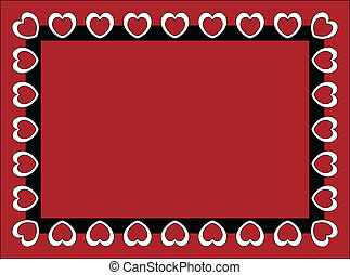 Valentine Frame or Tag - Valentine frame or tag with red...