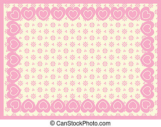 Vector Victorian Eyelet Copy Space - Vector background of...