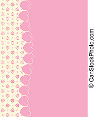Vector Background Hearts and Eyelet - Vector background with...