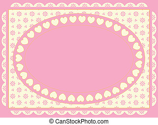 Oval Vector Frame on Victorian Eyel
