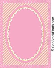 Oval Vector Victorian Eyelet Frame - Oval vector frame of...