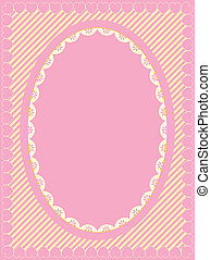 Oval Frame of Victorian Eyelet on H