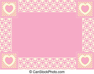 Heart Border with Copy Space