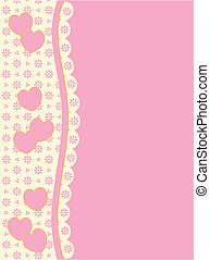 Vector Victorian Heart and Eyelet - Vector background with...