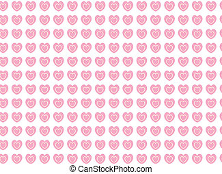 Vector Heart Striped Fabric