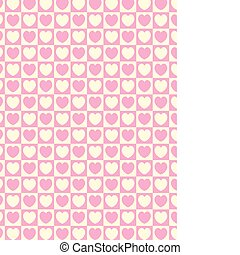 Vector Heart Striped Squares Fabric