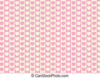 Vector Heart Striped Fabric Backgro