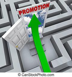 Promotion in Maze - Open Door to Career Success
