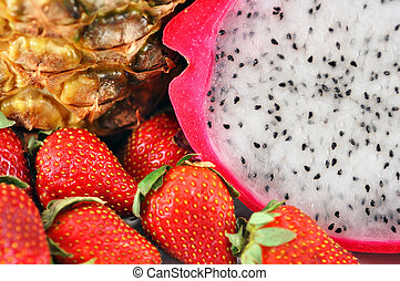 Fruit mix - Yummy healthy fruit mix: pineapple, straberriese...