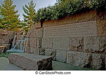 FDR monument in Washington DC - Beautiful architectural...