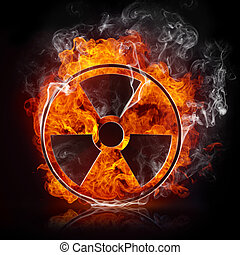 sinal, radiação