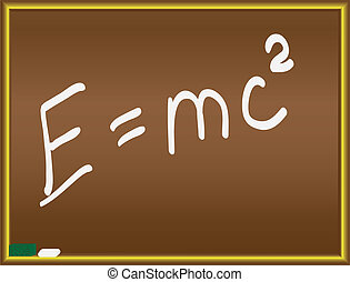 Einstein formula on a chalkboard vector illustration