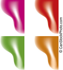 colorful silky waves - vector colorful silky waves with...