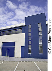 industrial building - a line of industrial premises to...