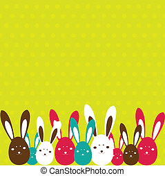 Background with Easter card