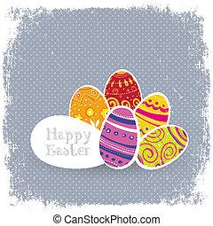 Easter eggs vintage background.