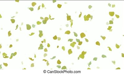 falling ginkgo and yellow leaves ,flower...