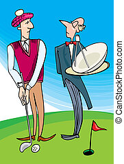 Lord playing golf - Illustration of Lord playing golf