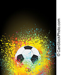 Abstract background with a soccer ball EPS 8 vector file...