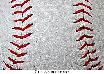Baseball seams - Macro of red baseball seams