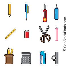cartoon Stationery doodle icon