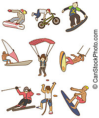 cartoon Extreme sport icon  - cartoon Extreme sport icon