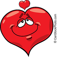 heart in love - cartoon illustration of heart in love