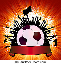 Grunge Soccer Ball background. EPS 8
